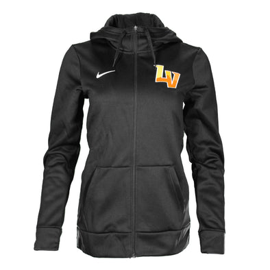 Women's Las Vegas Aviators Nike Left Chest LV Black Therma-Fit Hoodie