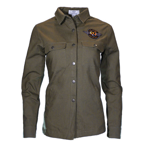 Women's Las Vegas Aviators Vansport Retro Logo Boulder Taupe Green Jacket
