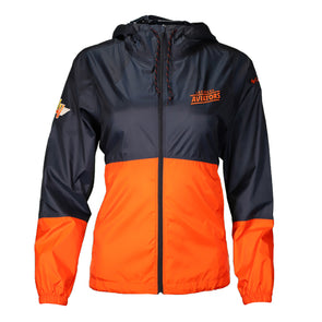 Women's Las Vegas Aviators Columbia Flash Forward Navy/Orange Windbreaker Jacket