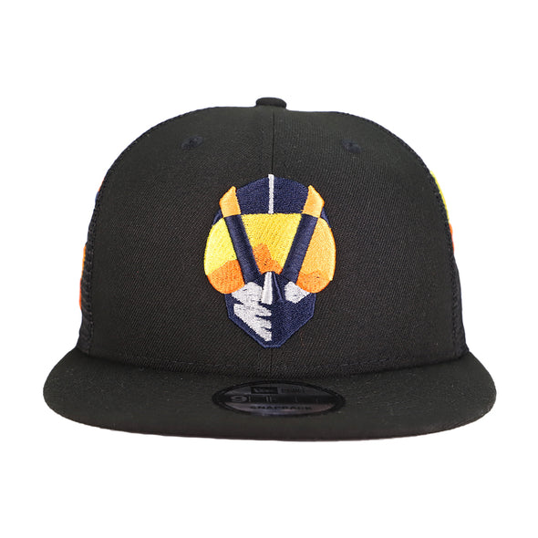 Las Vegas Aviators New Era Aviator Scatter Black 9Fifty Snapback Hat