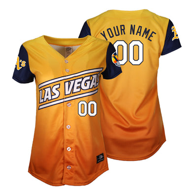 Women's Las Vegas Aviators OT Sports Road Alternate Gradient/Blue Custom Replica Jersey