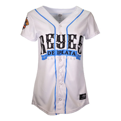 Women's Las Vegas Reyes de Plata OT Sports Home White Replica Jersey