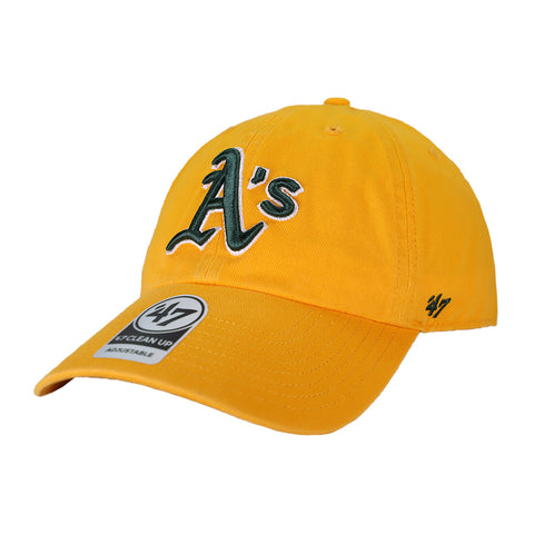 Oakland Athletics '47 Brand Clean Up Gold Strapback Hat