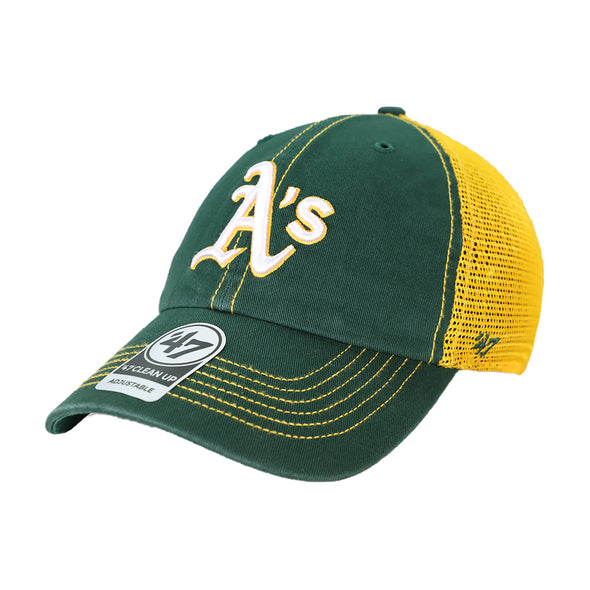 Oakland Athletics '47 Brand A's Trawler Yellow/Green Clean Up Snapback Hat