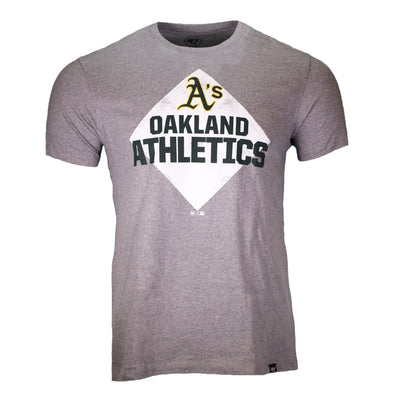 Oakland Athletics '47 Brand Super Rival Gray Short Sleeve T-Shirt