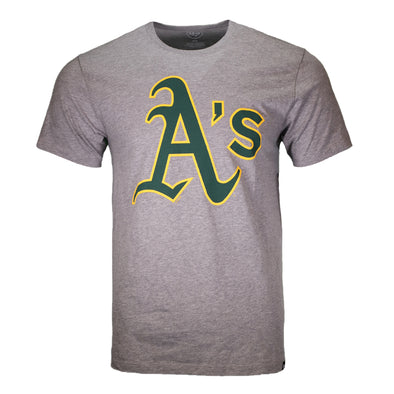 Oakland Athletics '47 Brand A's Club Gray Short Sleeve T-Shirt