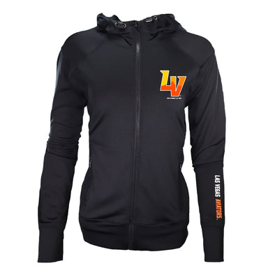 Women's Las Vegas Aviators 5th & Ocean LV Black Jersey Full Zip Hoodie