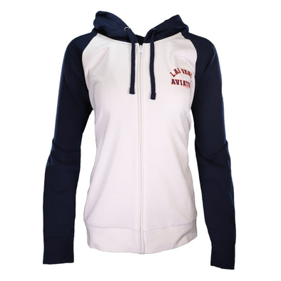 Women's Las Vegas Aviators 5th & Ocean Las Vegas Aviators White/Navy Full Zip Hoodie