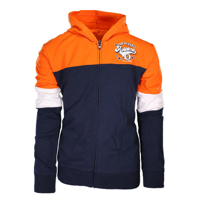 Girls' Las Vegas Aviators 5th & Ocean Las Vegas Aviators Orange/Navy/White Full Zip Hoodie
