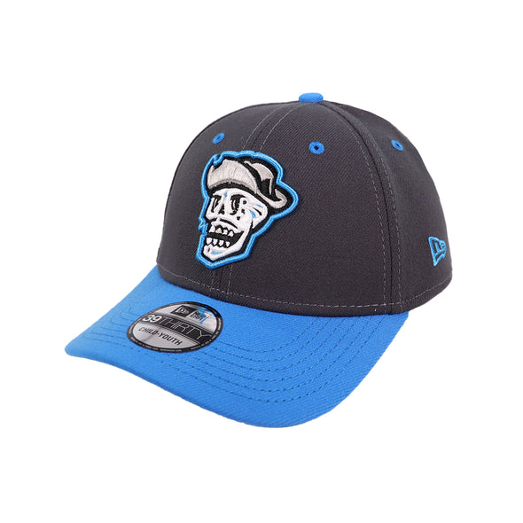Kids' Las Vegas Reyes de Plata New Era Graphite/Blue 39Thirty Stretch Fit Hat