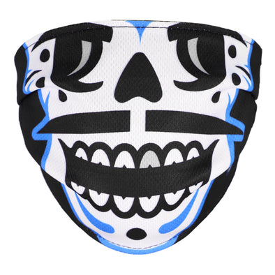 Kids' Las Vegas Reyes de Plata OT Sports Skull 2-Ply Black Facial Cover
