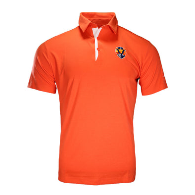 Men's Las Vegas Aviators Columbia Aviator Orange Omni-Wick Sand Save Short Sleeve Polo