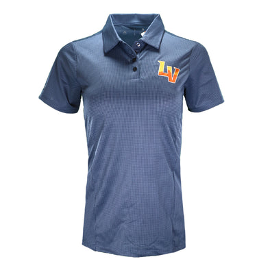 Women's Las Vegas Aviators Antigua LV Navy Balance Short Sleeve Polo
