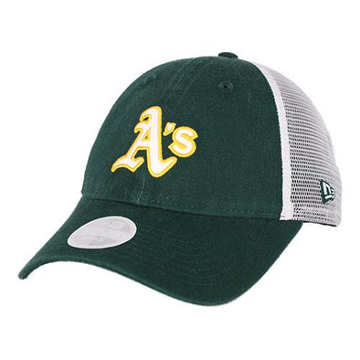 Women's Oakland Athletics New Era Trucker Shine 9Twenty Snapback Hat
