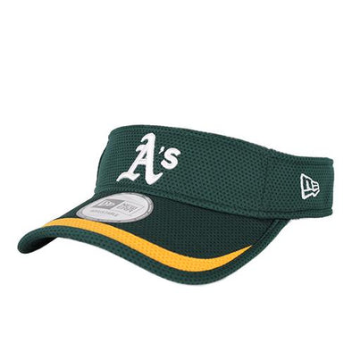 Oakland Athletics New Era A's Green/Yellow Lined Velcroback Visor Hat