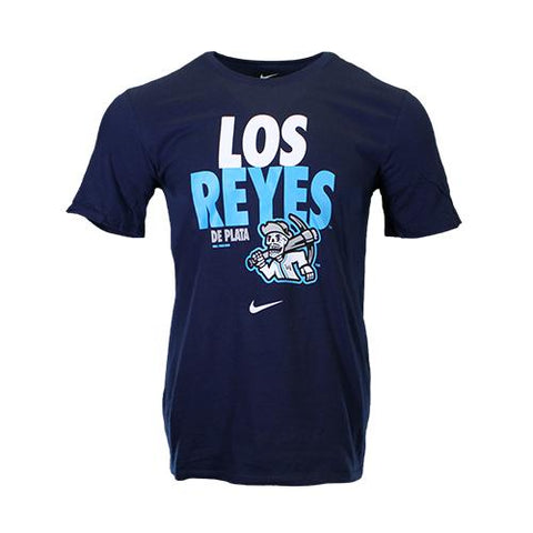 Men's Las Vegas Reyes de Plata Nike Los Reyes Navy Cotton Short Sleeve T-Shirt