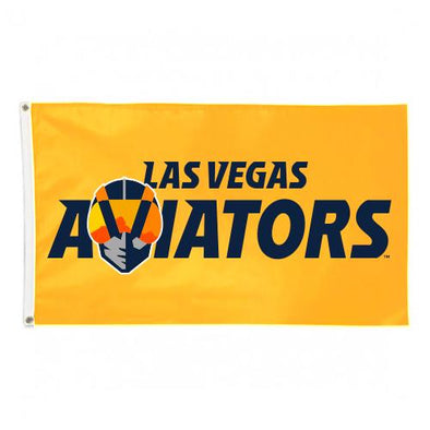 Las Vegas Aviators Wincraft Wordmark Yellow Deluxe Flag