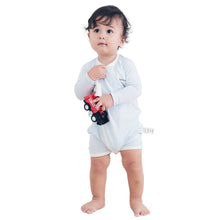 Load image into Gallery viewer, Side-Snap Bear-Wrap Babysuit