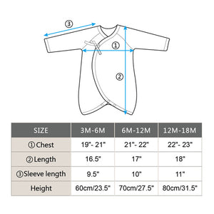 Edenswear Side-Snap Bear-Wrap Babysuit with Zinc-Infused Fabric for Skin with Eczema
