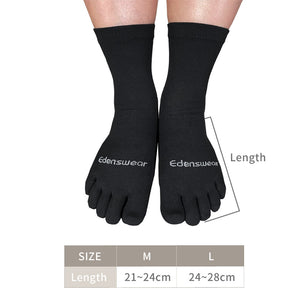 Edenswear Zinc-infused Tencel Eczema Moisturizing 5 Toe Socks for Adults