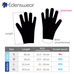 Edenswear Zinc Infused Tencel Eczema Gloves For Adult