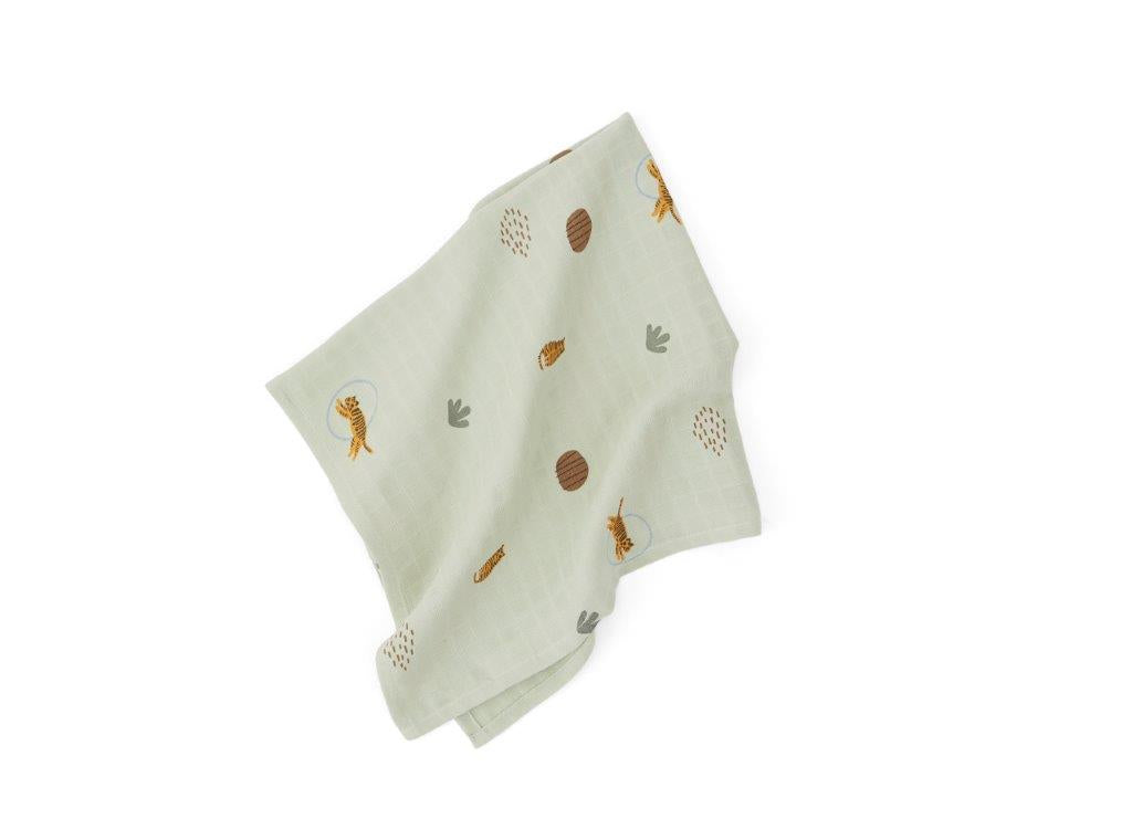 OYOY OYOY Muslin Square - Tiger - 3 Pack - Green - Pearls & Swines