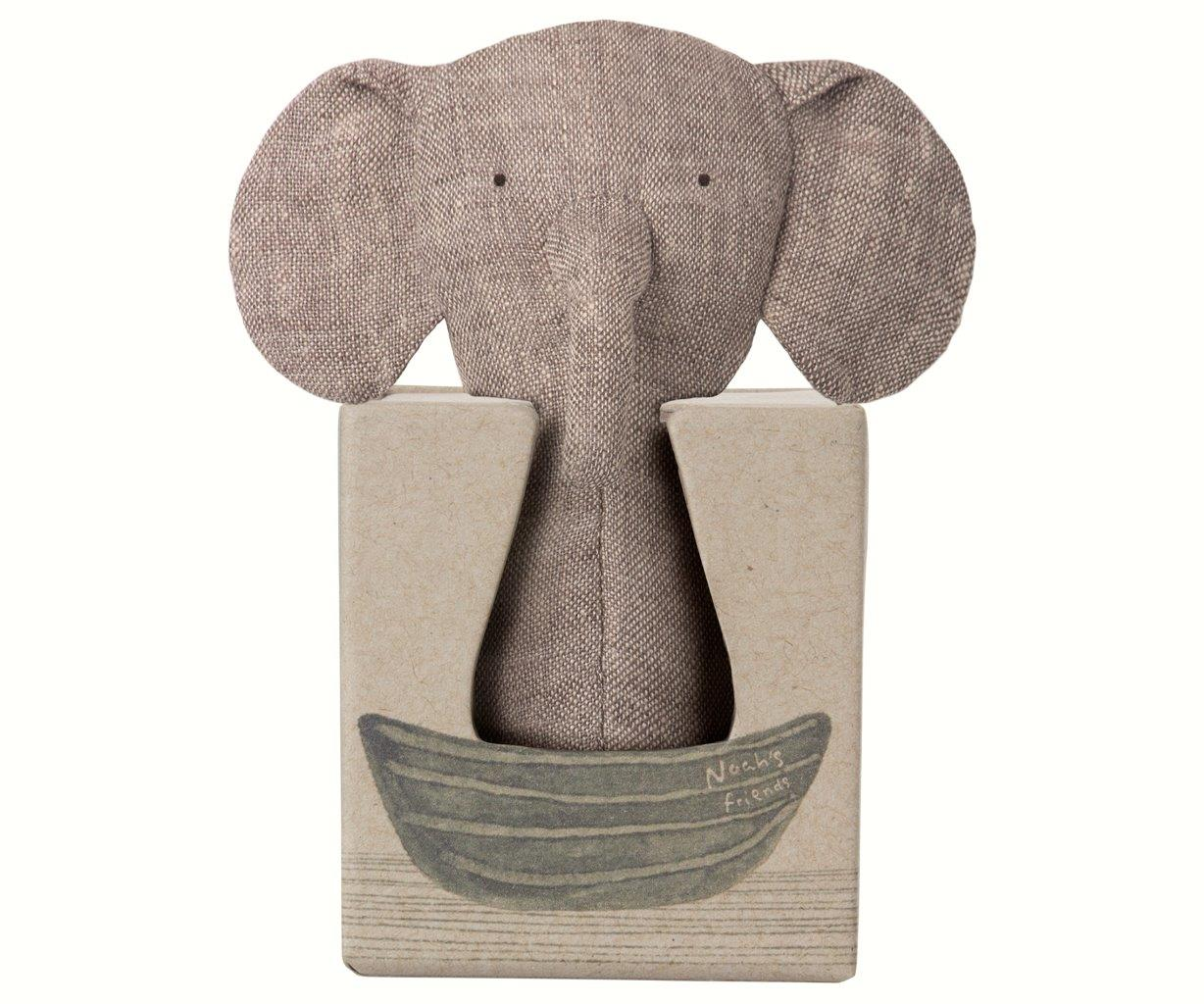 Maileg Maileg Noah's Friends - Elephant Rattle - Pearls & Swines