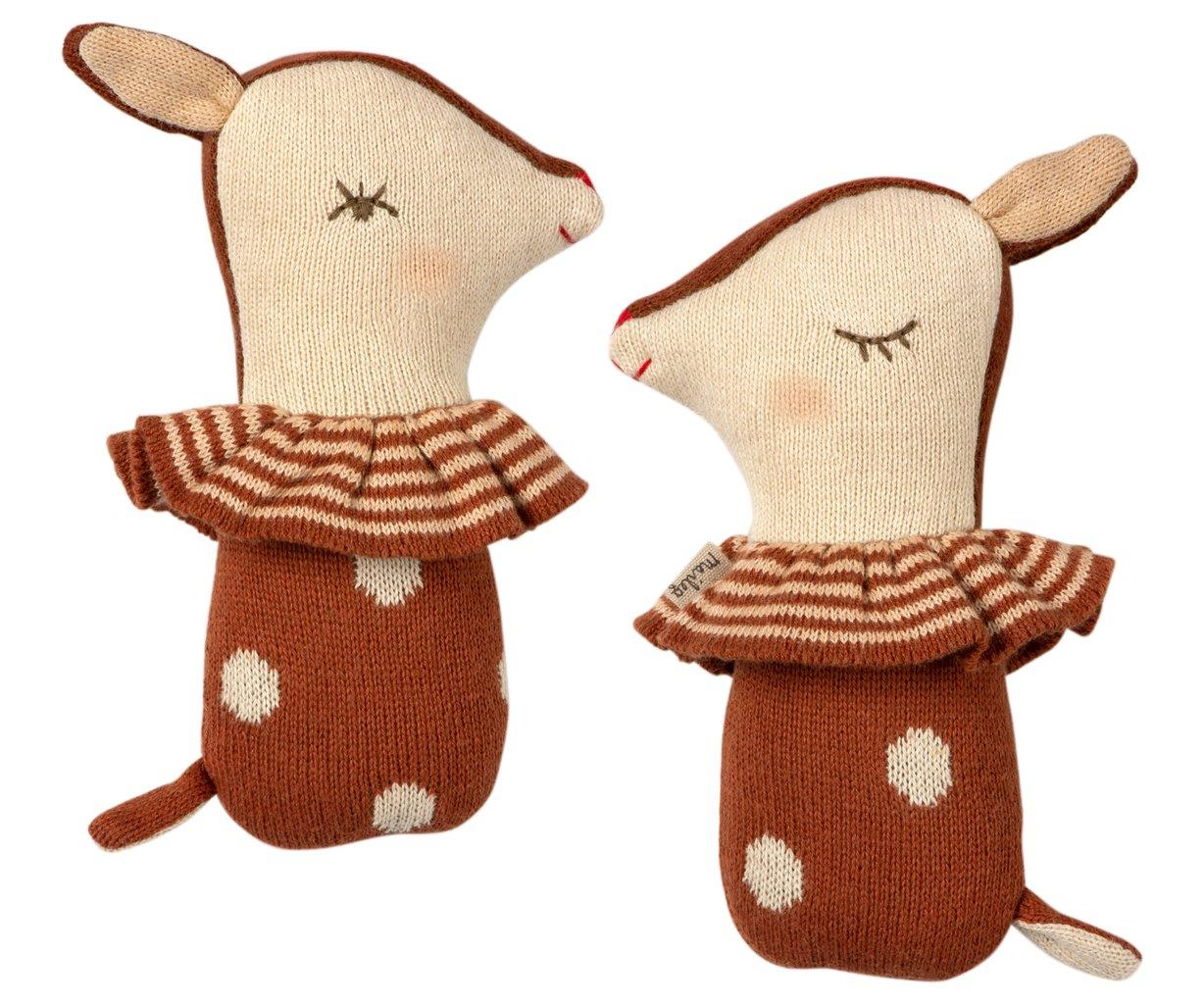 Maileg Maileg Bambi rattle - Rusty - Pearls & Swines