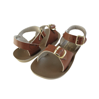 Salt-Water Sandals Salt-Water Sandals Surfer - Tan - Pearls & Swines
