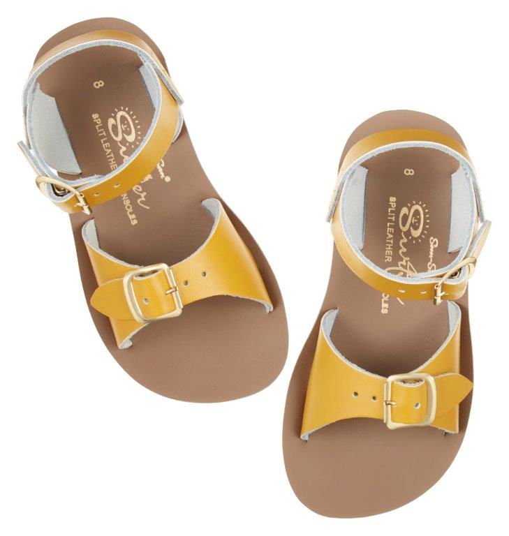 Salt-Water Sandals Salt-Water Sandals Surfer - Mustard - Pearls & Swines