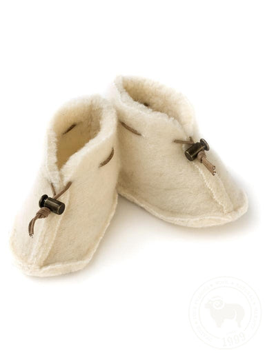 Alwero Alwero Baby Boots - Natural - Pearls & Swines