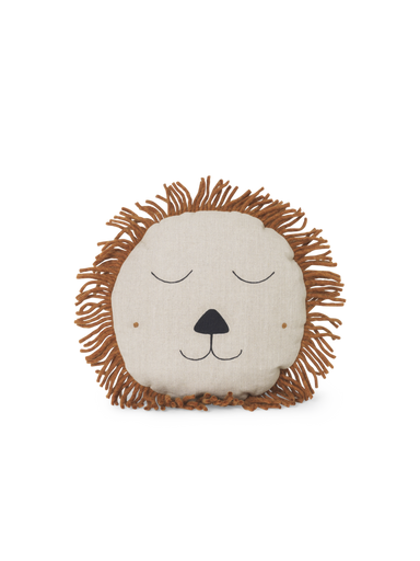 Ferm Living Ferm Living Lion Cushion - Natural - Pearls & Swines