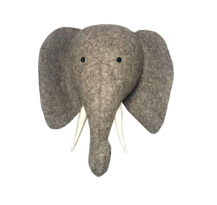 Fiona Walker Fiona Walker Elephant with Trunk Up Semi Head - Pearls & Swines