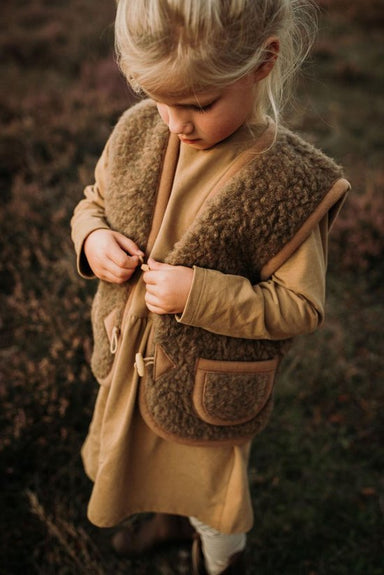 Alwero Alwero Kids Vest - Brown - Pearls & Swines