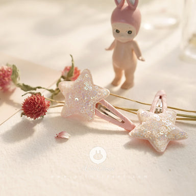 Arim closet Arim Closet White Star Hair Pin - Pearls & Swines