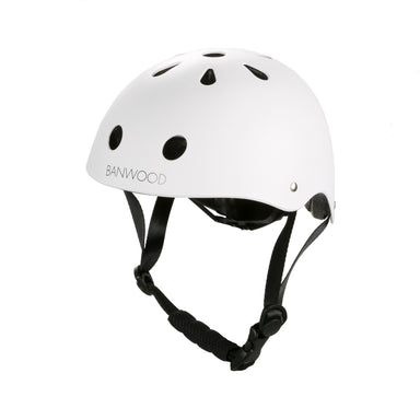 Banwood Banwood Classic Helmet - Matte White - Pearls & Swines