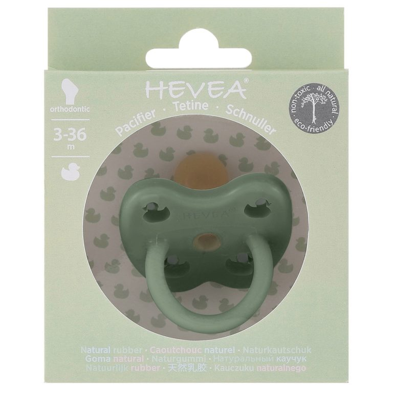 Hevea Hevea Pacifier - Moss Green - Pearls & Swines