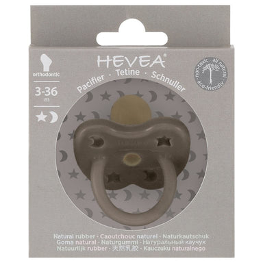 Hevea Hevea Pacifier - Shiitake Grey - Pearls & Swines