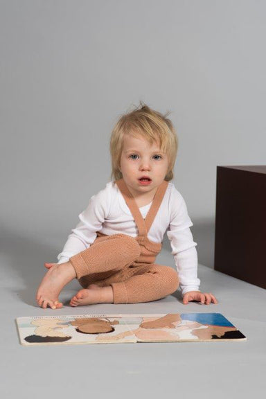 Silly Silas Silly Silas Footless Cotton Tights - Light Brown - Pearls & Swines