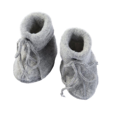 Engel Natur Engel Wool Booties - Light Grey Melange - Pearls & Swines