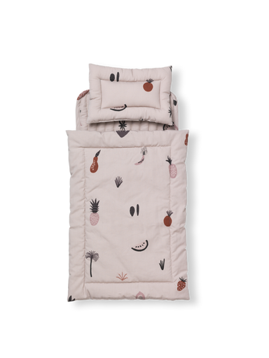 Ferm Living Ferm Living Fruiticana Doll Quilt Bedding Set - Pearls & Swines