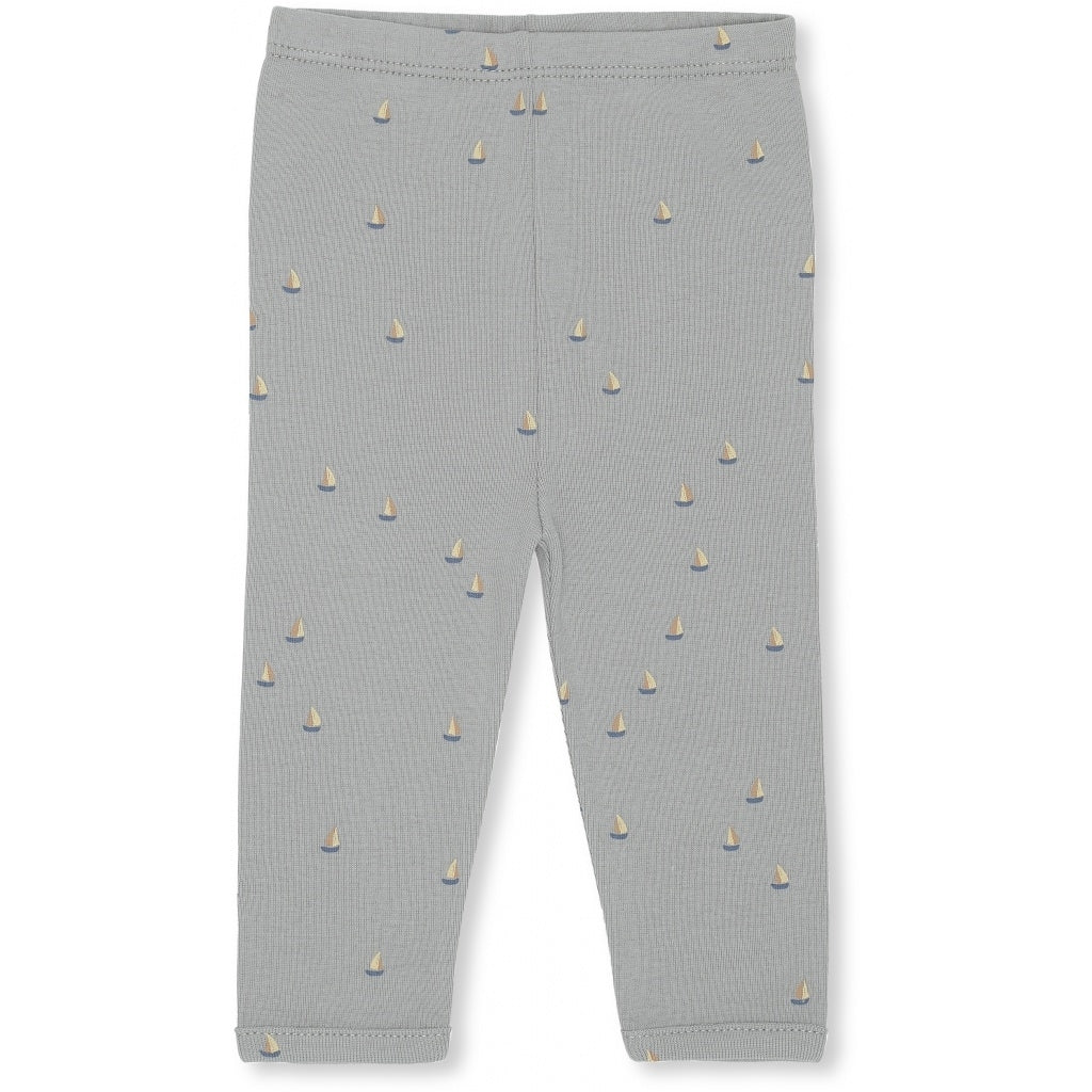 Konges Sløjd Konges Sløjd New Born Pants Deux - Mille Marine French Blue - Pearls & Swines