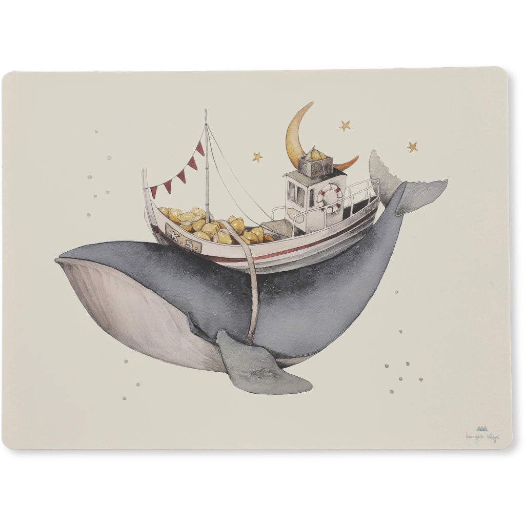 Konges Sløjd Konges Sløjd Placemat Silicone - Whale - Pearls & Swines