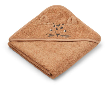 Liewood Liewood Albert Hooded Towel - Leopard Apricot - Pearls & Swines