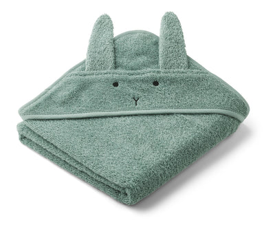 Liewood Liewood Albert Hooded Towel - Rabbit Peppermint - Pearls & Swines