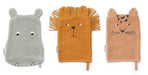 Liewood Liewood Sylvester Washcloths 3-pack - Safari Mix - Pearls & Swines