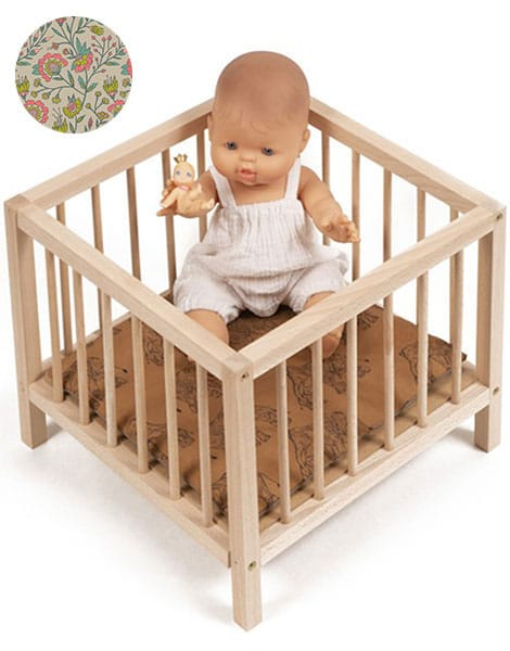 Minikane Minikane Baby Doll Playpen - Flowers - Pearls & Swines