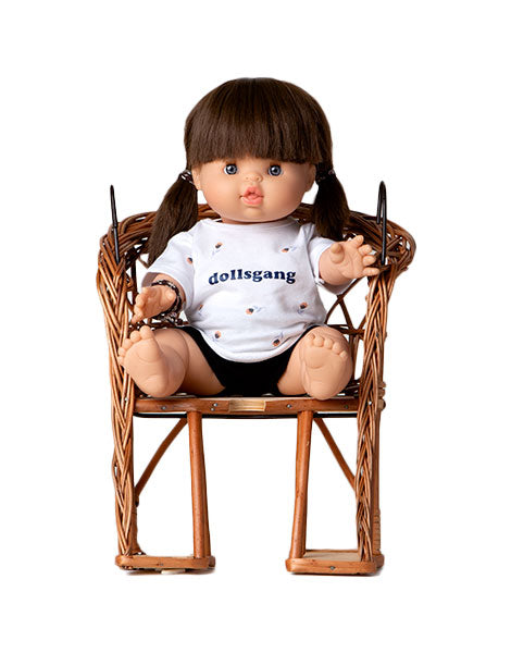 Minikane Minikane Baby Doll Rotan Bicycle Seat - Pearls & Swines