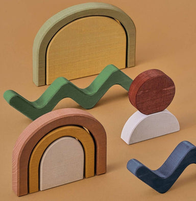 Raduga Grez Raduga Grez Shapes Building Blocks - Pearls & Swines