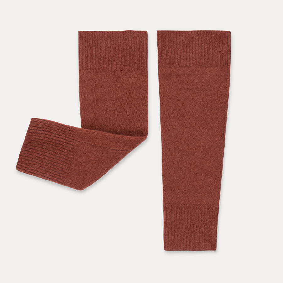 Repose Ams Repose Ams Knitted Legwarmers - Faded Smoked Red - Pearls & Swines